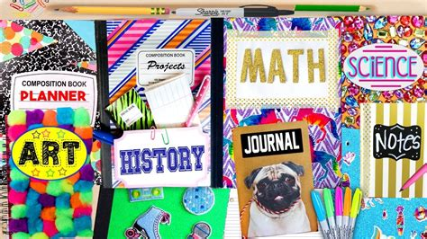 7 Accessories To Spice Up Your School by Diy Back To School Notebook Ideas 10 Easy Ways To Spice