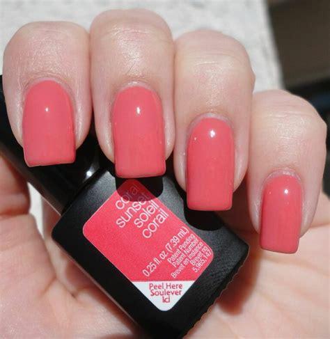 sensationail colors coral sunset gel color from sensationail http www