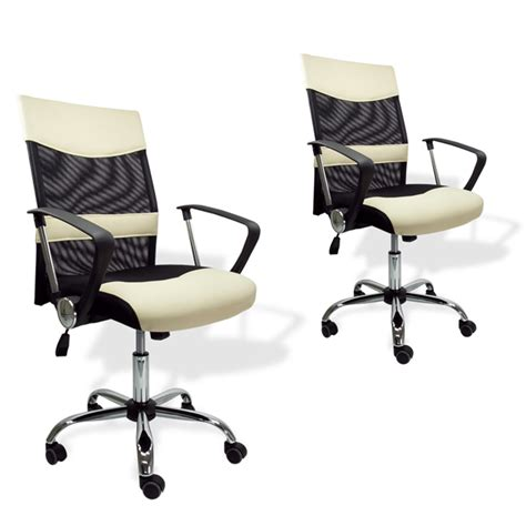 beige leather desk chair 2 executive black beige office chair leather mesh home