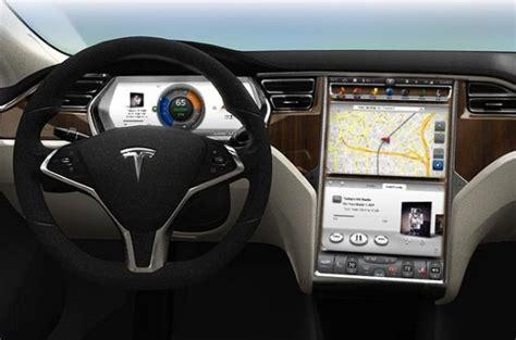 Tesla Model S Dashboard Driver Distraction Threaten Tesla Style Touchscreens