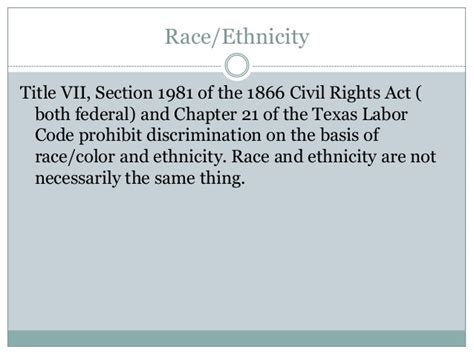 section 1981 civil rights act employment discrimination under texas and federal law