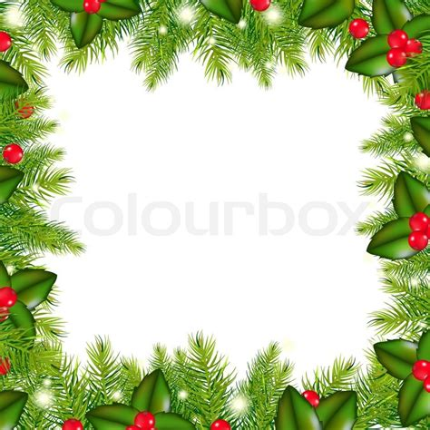card wallpapers free christmas garland clip art free download winter border with christmas tree and holly berry stock