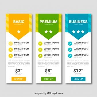 table prices pricing table vectors photos and psd files free