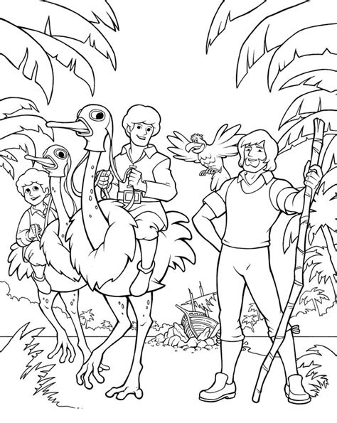 coloring pages for swiss family robinson robinson crusoe and swiss family robinson dvd art by
