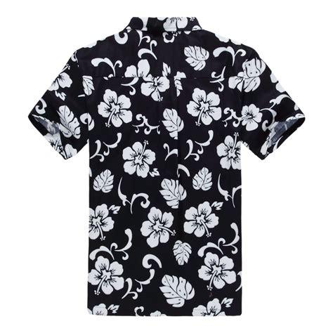 hawaiian pattern t shirt men hawaiian aloha shirt in navy hibiscus
