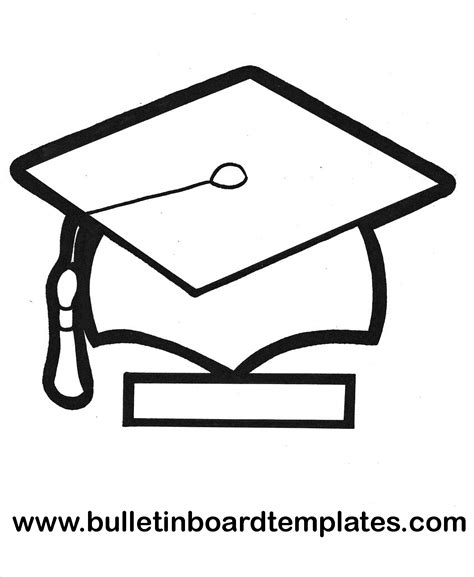 template printable hat for graduation clipart best