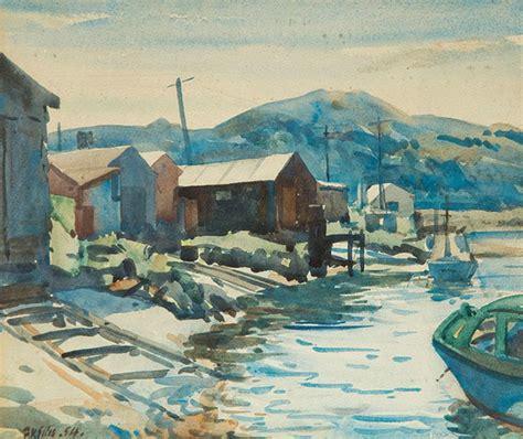 boat parts wellington works on paper frederick vincent ellis australian art