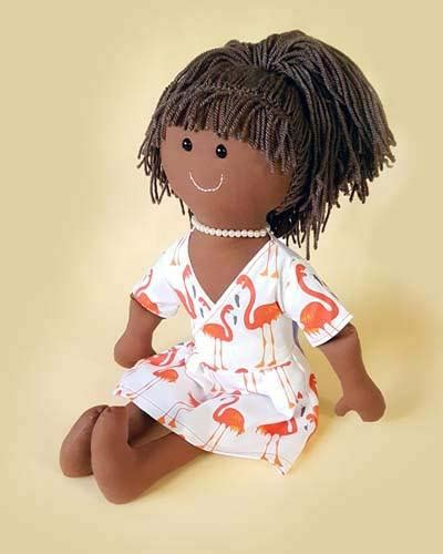 rag doll dress pattern sew a custom rag doll and wrap dress pattern dolly pattern