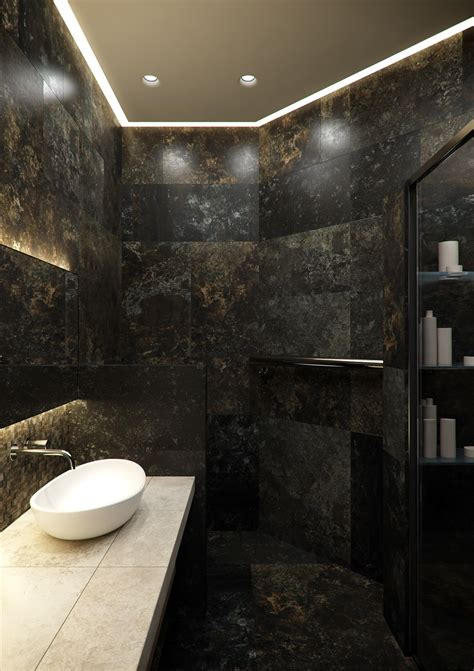 dark colored bathroom designs a stylish apartment with classic design features