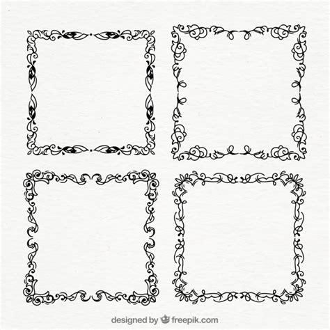 cornici disegnate set di cornici ornamentali disegnate a mano scaricare