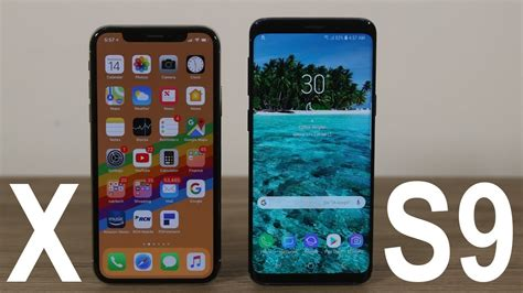 samsung galaxy s9 vs iphone x comparison winner decided