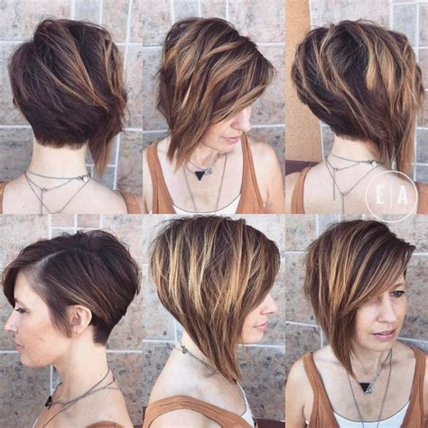 Women's Dramatic Asymmetric Textured Bob with Side Swept