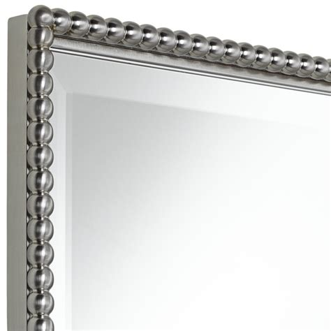 A Brushed Nickel Frame For A Bathroom Mirror Useful Brushed Nickel Mirror For Bathroom
