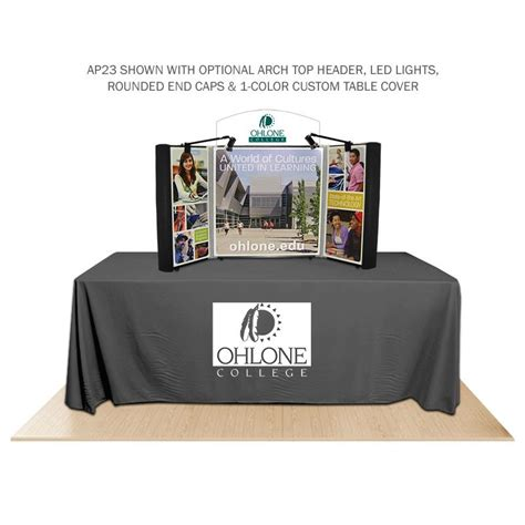 Table Top Display by Academypro Tri Fold Presentation Tabletop By Affordable