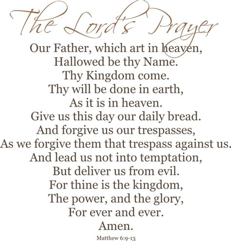 The Lord Prayer st paul s evangelical lutheran church the lord s prayer