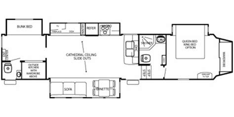cedar creek 5th wheel floor plans 2010 cedar creek silverback fifth wheel series m 35k specs