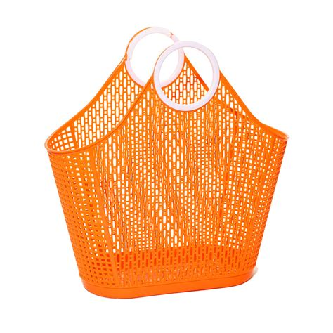 Orange Jelly Bag jelly bag shopper large orange vintage style
