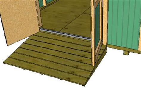 woodwork build wood ramp  shed  plans