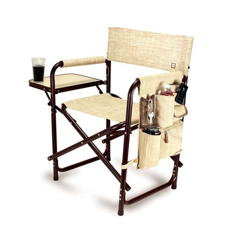 picnic time gardener folding chair with tools shop picnic time aluminum folding cing chair at lowes
