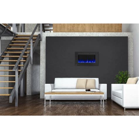 Napoleon Linear Wall Mount Electric Fireplace by Napoleon 42 In Wall Mount Linear Electric Fireplace In