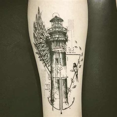 small lighthouse tattoo 90 coolest forearm tattoos designs for and you