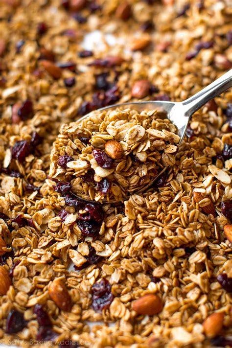 Granola Almond almond cranberry granola recipe