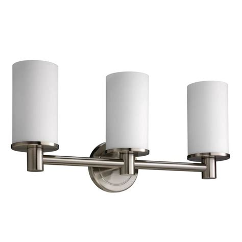 lowes bathroom lighting brushed nickel shop gatco 3 light latitude 2 brushed nickel bathroom