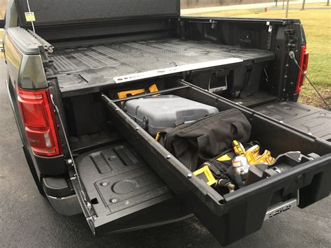 truck bed drawers decked decked truck organizer tools in action