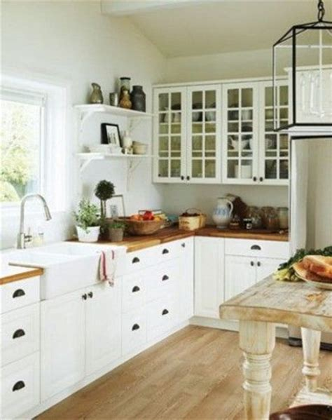 glass cabinet doors kitchen farmhouse with apron sink white cabinets glass door uppers open shelving