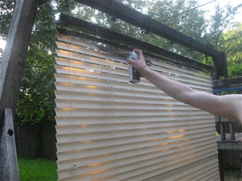 Painting Wood Blinds frugal home ideas spray painting blinds