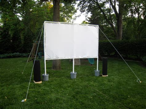 backyard movie screen lights cameras insect repellent how to build your own