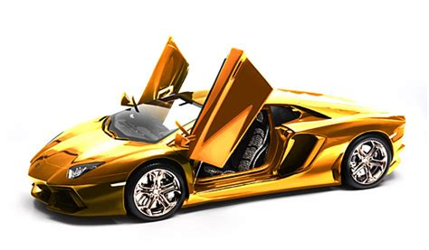 lamborghini gold this gold plated lamborghini model car will set you back