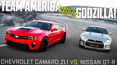 camaro vrs mustang 2012 chevrolet camaro zl1 vs 2013 nissan gt r premium