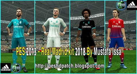 Real Madrid Home 2017 2018 Patch Ucl pes 2013 real madrid kit 2018 by mustafa issa pes patch