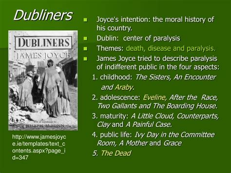 themes in dubliners by james joyce ppt eveline and the dead from james joyce s