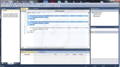 tutorial visual basic bahasa indonesia visual basic 2010 tutorial pembuatan costum drop down