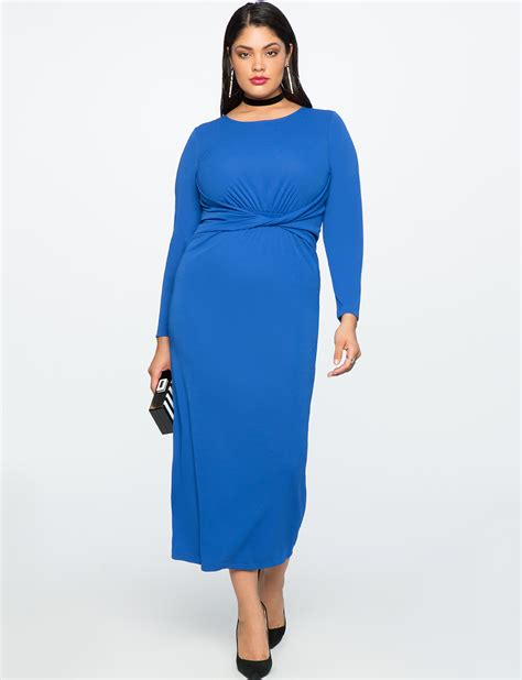 Twist Front Dress by Twist Front Maxi Dress S Plus Size Dresses Eloquii