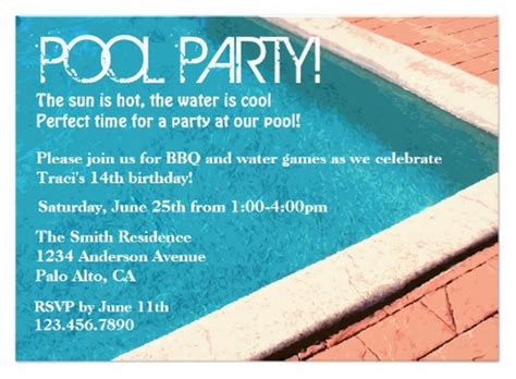 how to plan a party at home how to plan a pool party