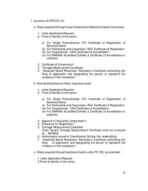 Transfer Of Vessel Letter mc 2013 02 registration and deletion of vessel