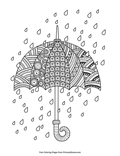 coloring page of rain 176 best coloring pages images on pinterest fall