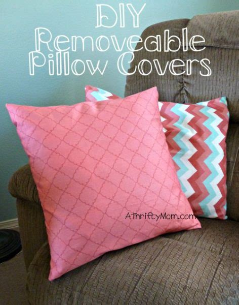 diy removable pillow covers  wont   easy