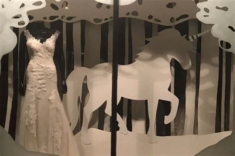 White Wardrobe Hitchin by Beautiful Bridal Boutique Window Displays