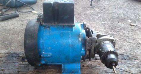 Mesin Bor Bekas modifikasi bekas pompa air menjadi mesin bor tangan teknik kreatif alternatif