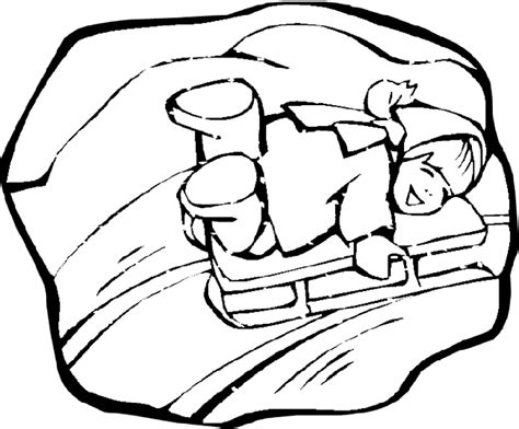 Free Coloring Pages Of Sledding Sled Coloring Pages