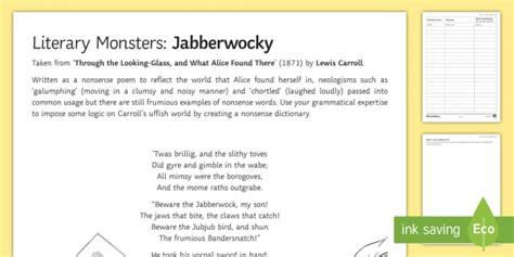 gratis libro e jabberwocky and other nonsense collected poems penguin clothbound classics para descargar ahora literary monsters jabberwocky worksheet activity sheet halloween