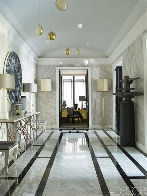 A Witty Entrance In A Parisian Apartment jean louis deniot new luxury project in a feminine