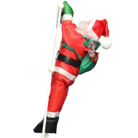 climbing santa claus with rope ladder christmas outdoor
