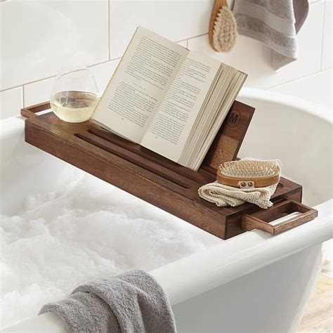 wooden bathtub caddy fancy wood bath caddy