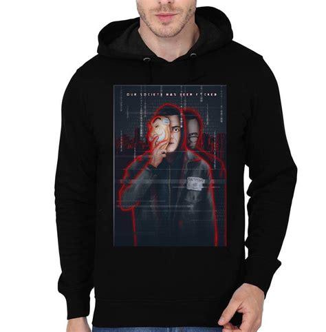 mr robot f society black hoodie swag shirts
