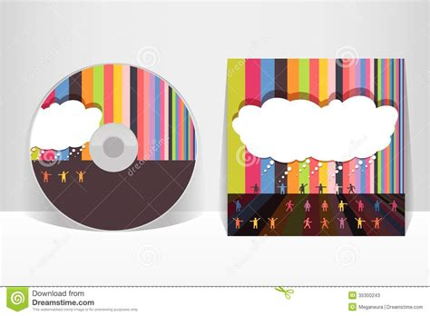 Cd Sleeve Design Template by Cd Cover Design Template Stock Vector Illustration Of
